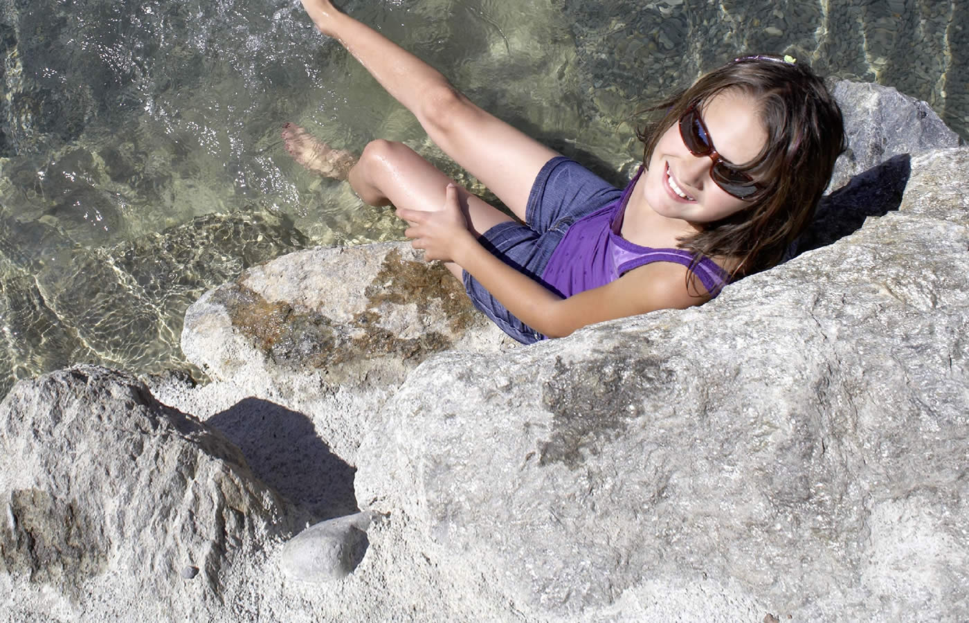 Murmliwasser in Serfaus. Familien-Wasserspaß im Sommer.