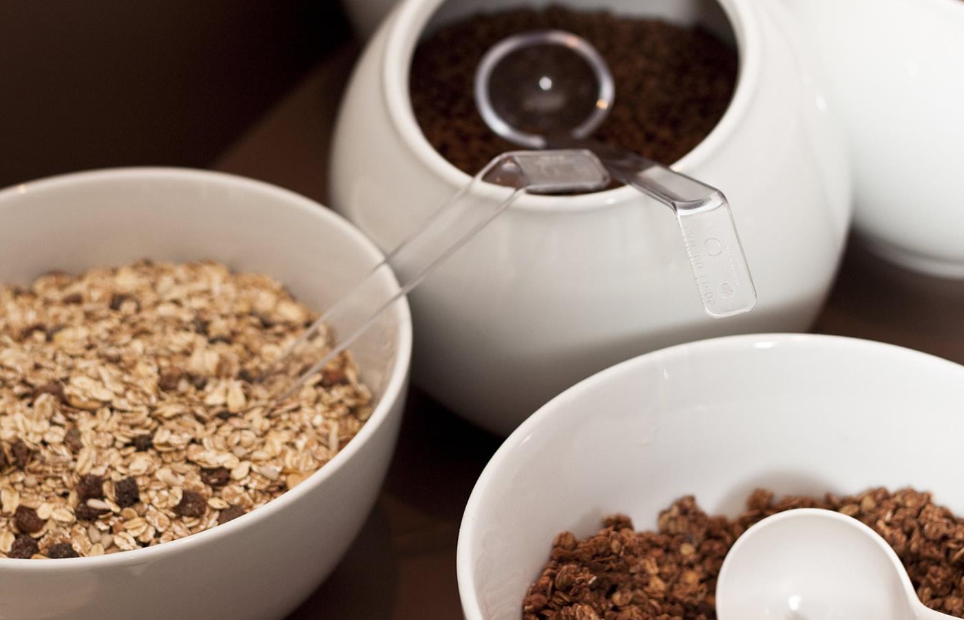 Hotel Natürlich in FIss - Frühstück mit Cerealien und Gesundes.